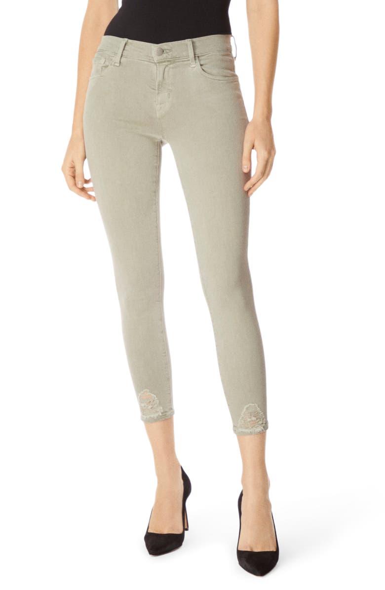 J BRAND 835 Capri Skinny Jeans, Main, color, FADED GIBSON DESTRUCT