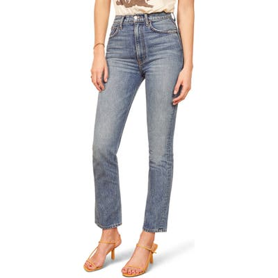 Reformation Stevie Ultra High Waist Cigarette Jeans, Blue