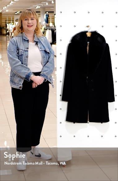 Wool Coat with Genuine Fox Fur Collar, sales video thumbnail