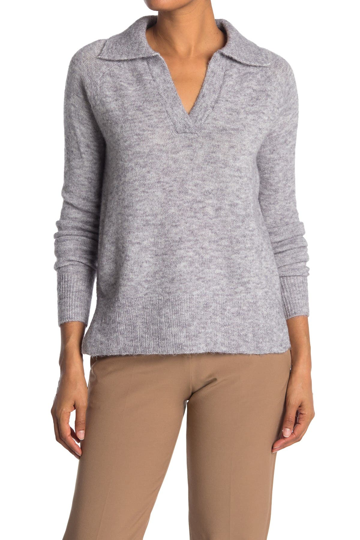 Image of Cloth By Design Johnny Collared Cozy Pullover Sweater