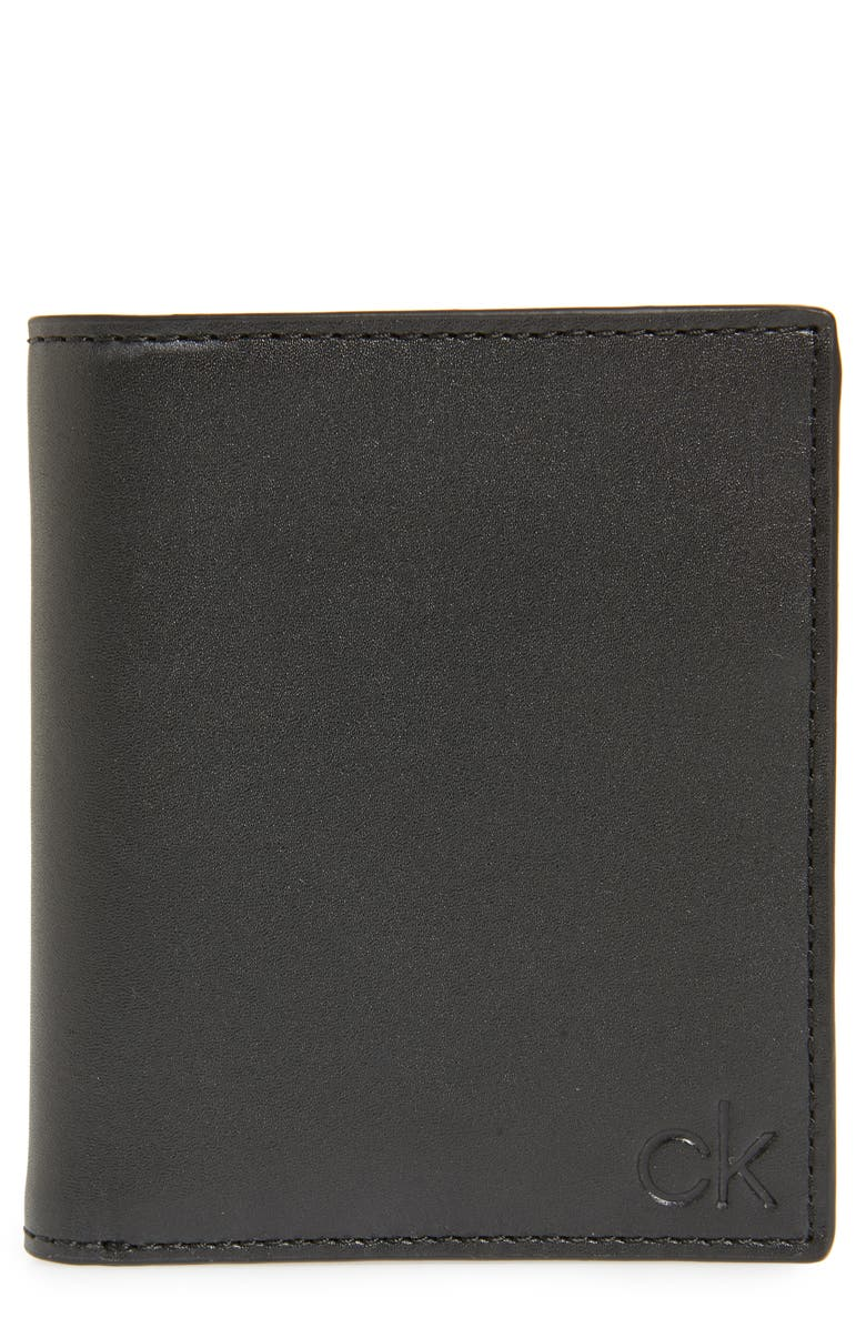 CALVIN KLEIN RFID Leather Bifold Wallet, Main, color, BLACK