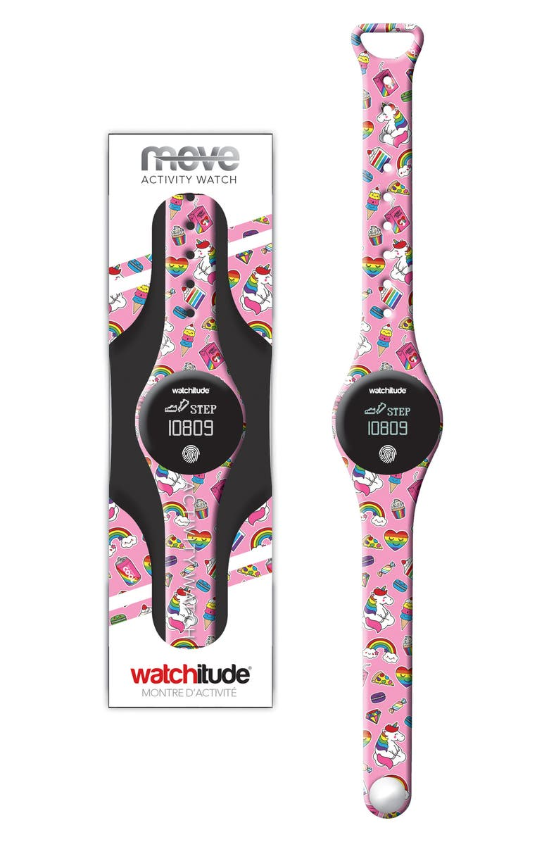 WATCHITUDE Unicorn Treats Move Activity Tracker Watch, Main, color, 960