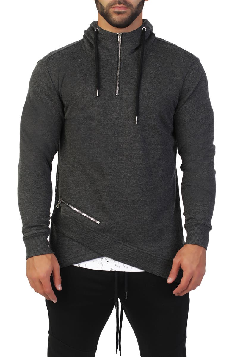 MACEOO Regular Fit Quarter Zip Hoodie, Main, color, GREY