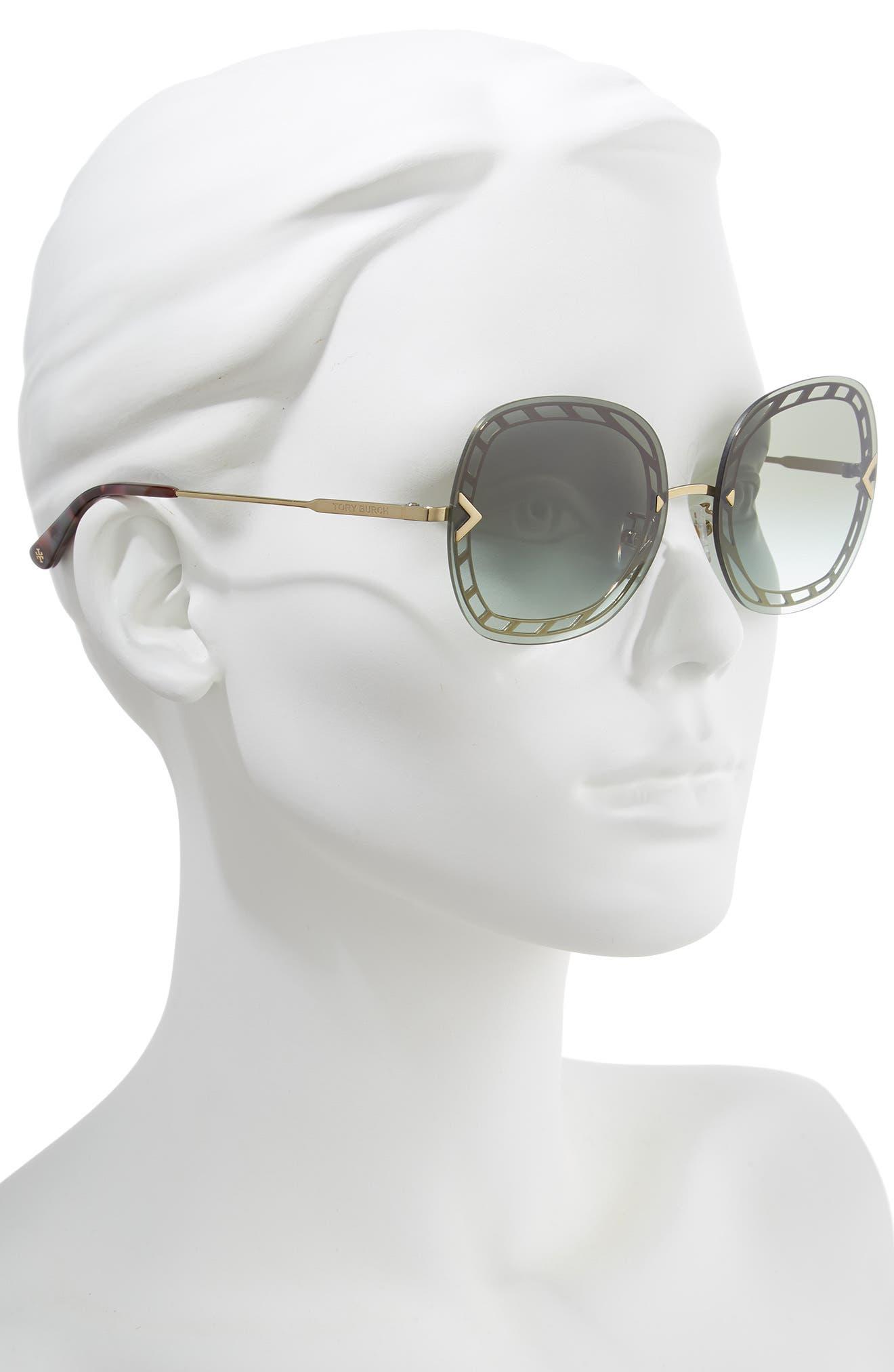 ,                             58mm Gradient Square Sunglasses,                             Alternate thumbnail 8, color,                             710