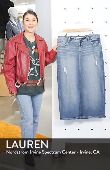 Long Denim Skirt, sales video thumbnail