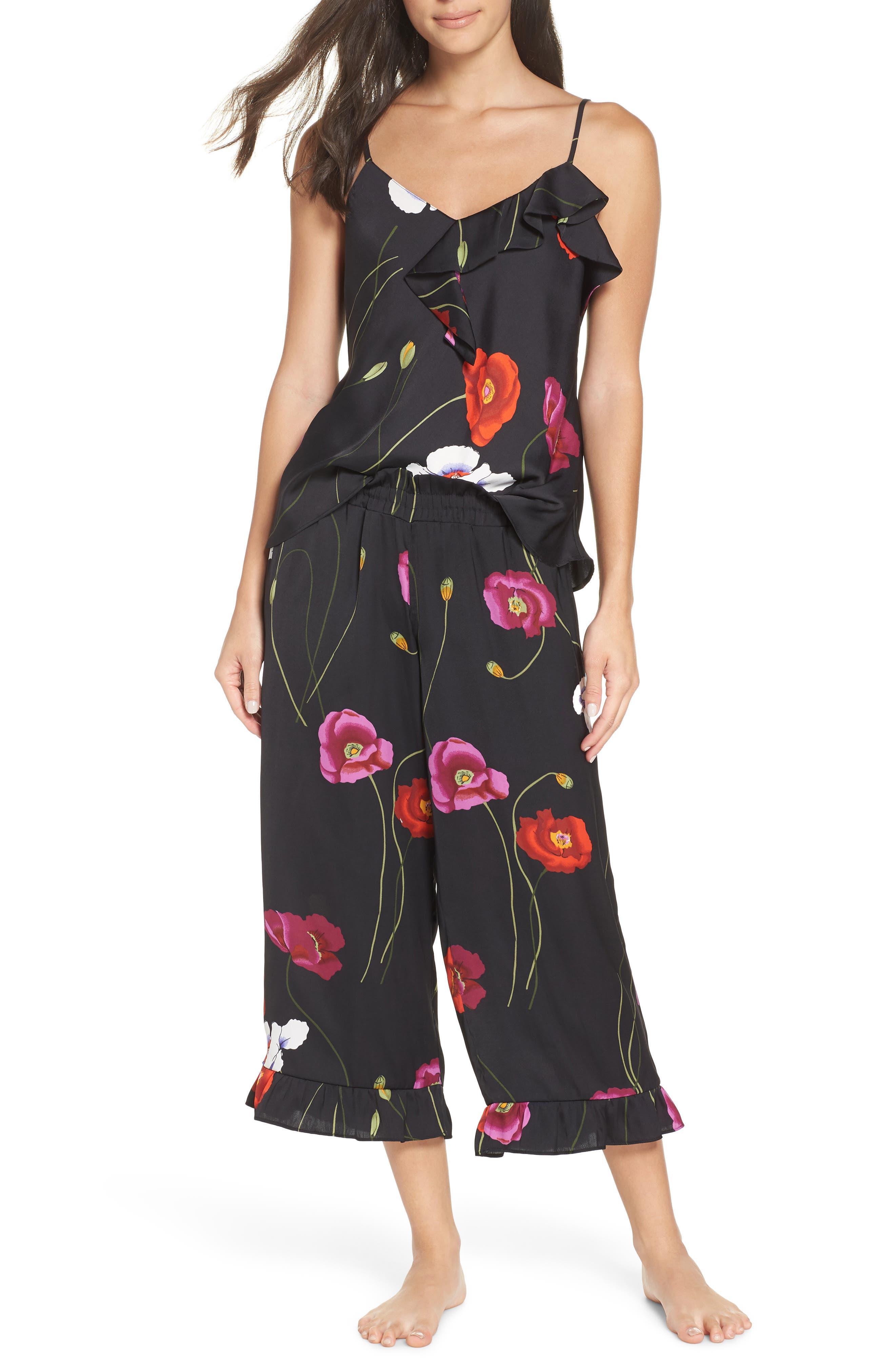 ,                             Freestyle Cami Pajamas,                             Main thumbnail 1, color,                             BLACK PEARL