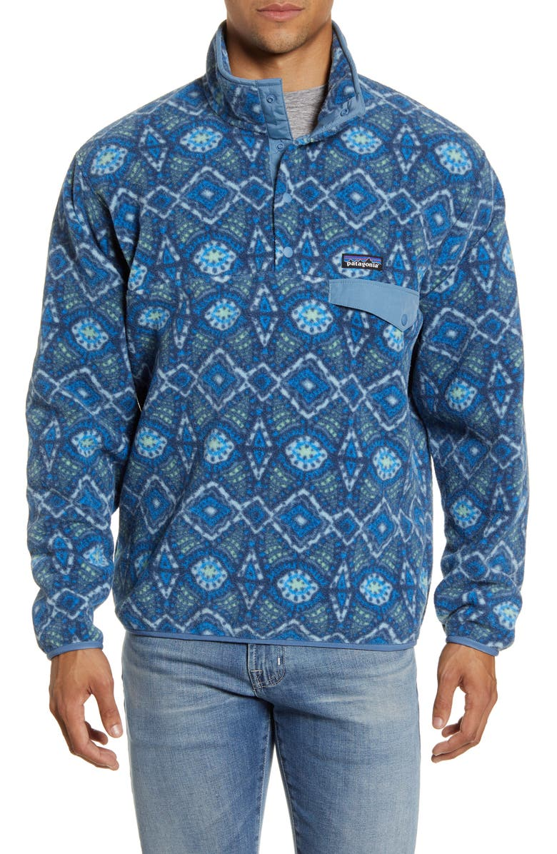 PATAGONIA Synchilla<sup>®</sup> Snap-T<sup>®</sup> Fleece Pullover, Main, color, HONEYCOMB/ STONE BLUE