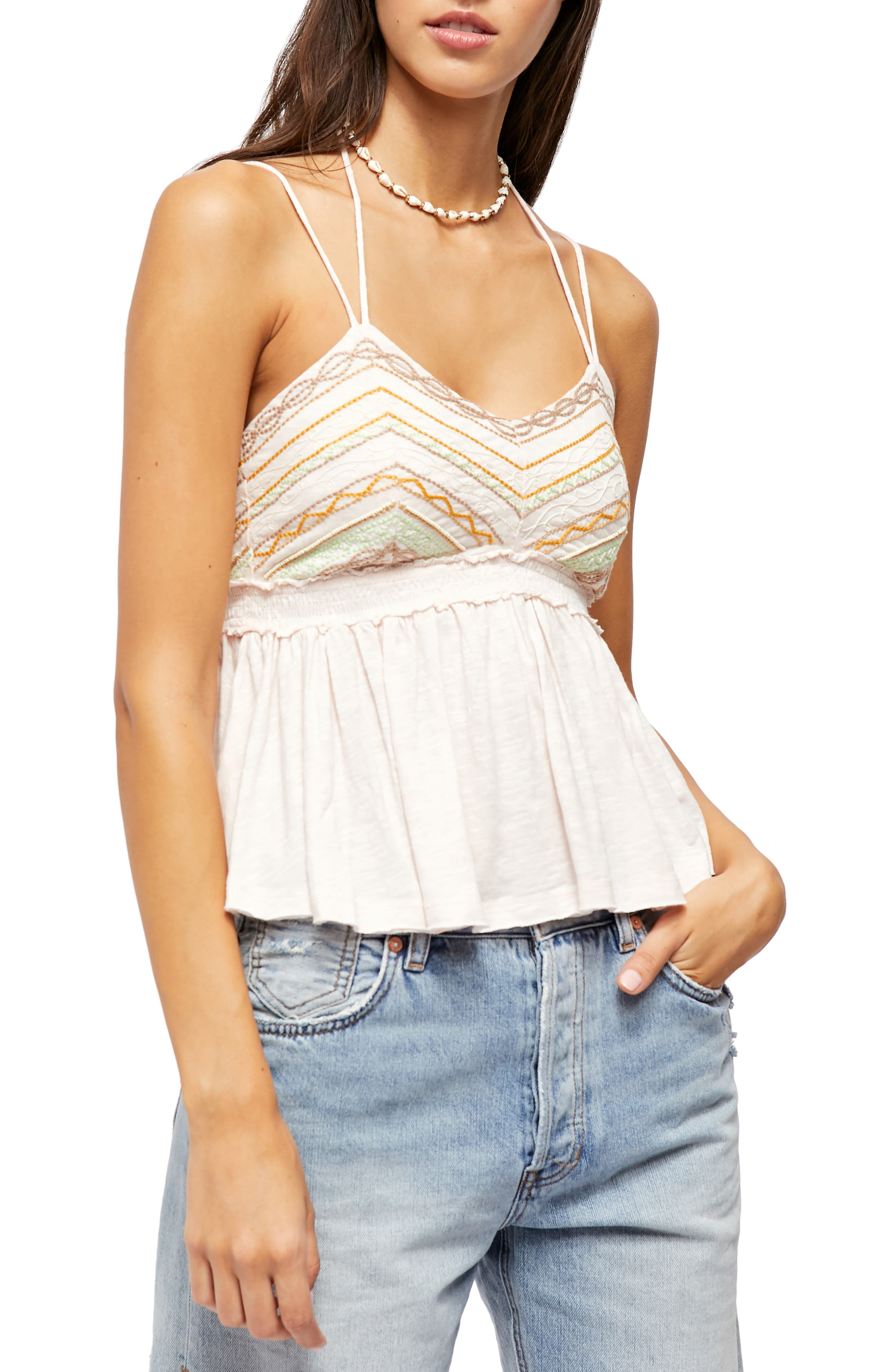 Image of Free People Well Traveled Halter Tank Top