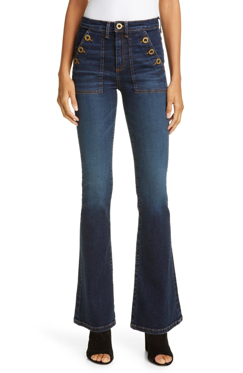VERONICA BEARD Florence Flare Jeans, Main, color, VINTAGE BLUE