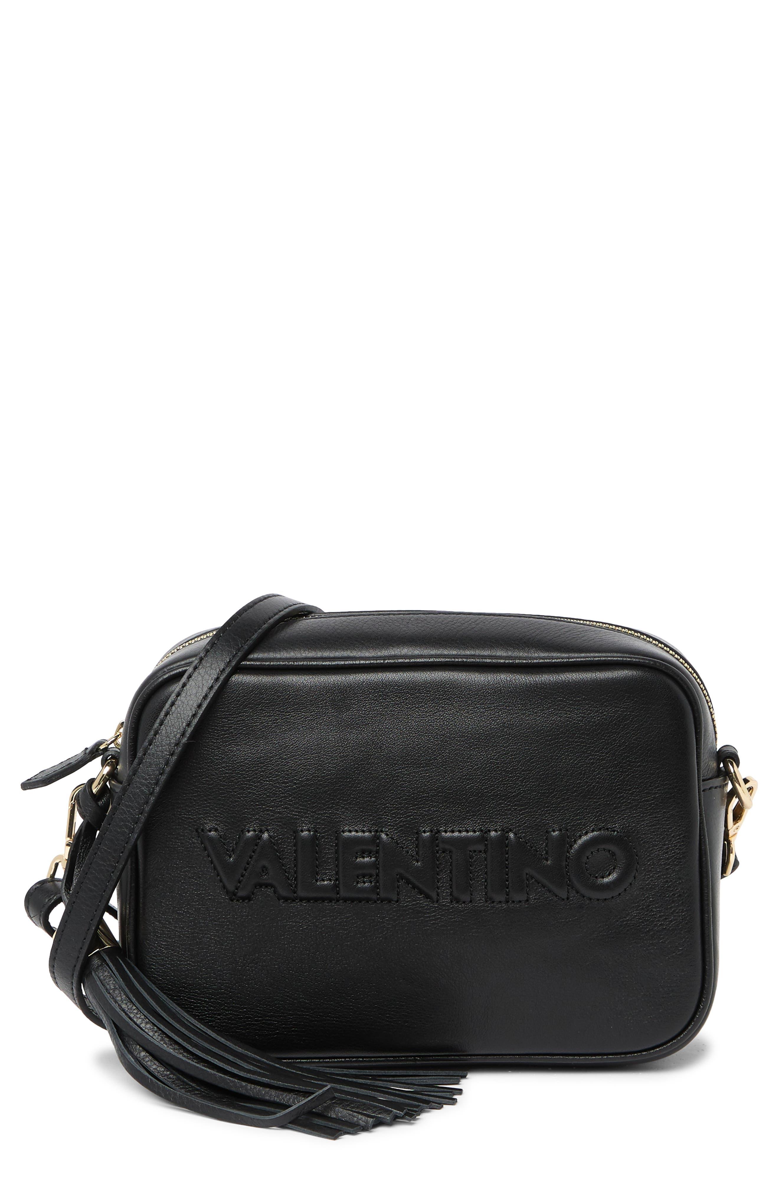 Image of Valentino By Mario Valentino Mia Sauvage Embossed Leather Crossbody Bag