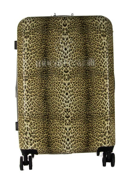 "Image of Roberto Cavalli Cheetah Print 20"" Expandable Hardside Spinner Suitcase"