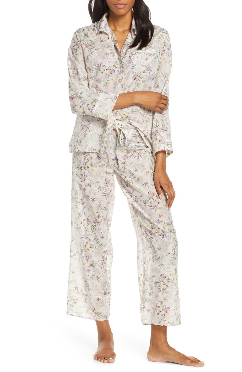 PAPINELLE Emmy Musk Cotton & Silk Pajamas, Main, color, MUSK