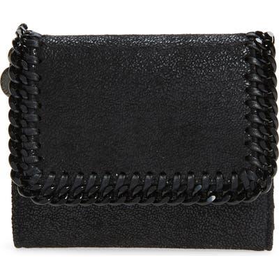 Stella Mccartney Falabella Faux Leather Shaggy Deer Wallet - Black