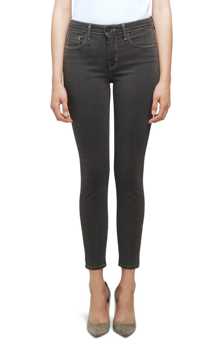 L'AGENCE Margot Crop Skinny Jeans, Main, color, MAGNET