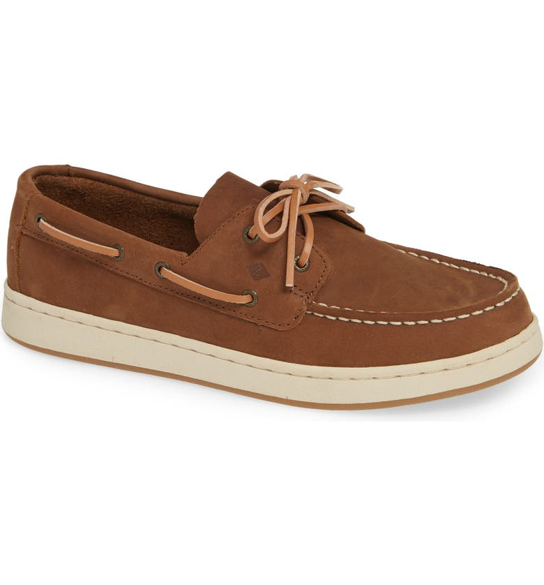 SPERRY KIDS Cup II Boat Shoe, Main, color, BROWN