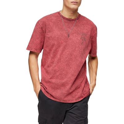 Topman Courage Tiger Graphic Tee, Red