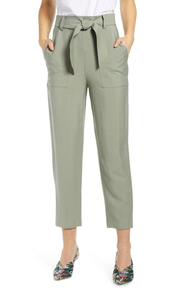 LEITH Tie Front Pants, Main, color, 310