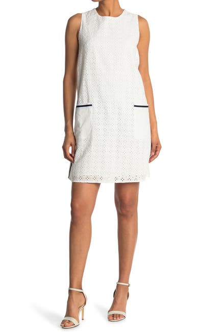 Image of Donna Morgan Sleeveless Lace Shift Dress