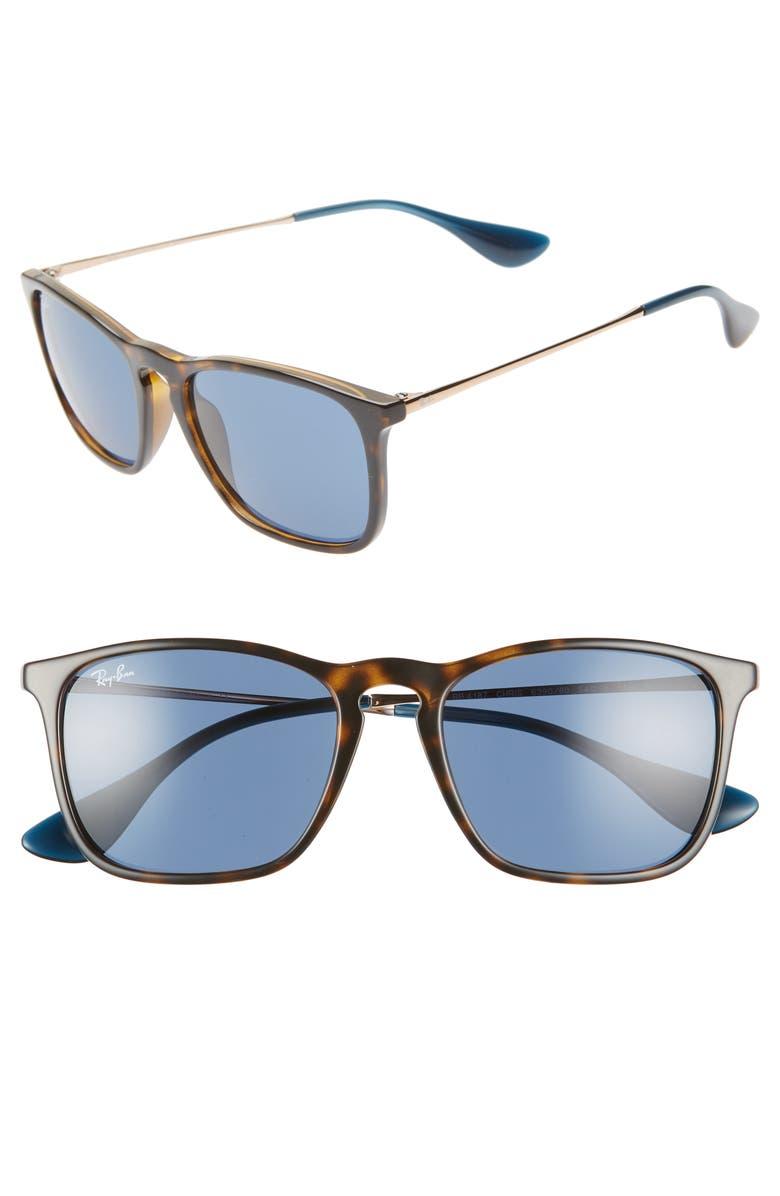 RAY-BAN 54mm Sunglasses, Main, color, TORTOISE BLUE