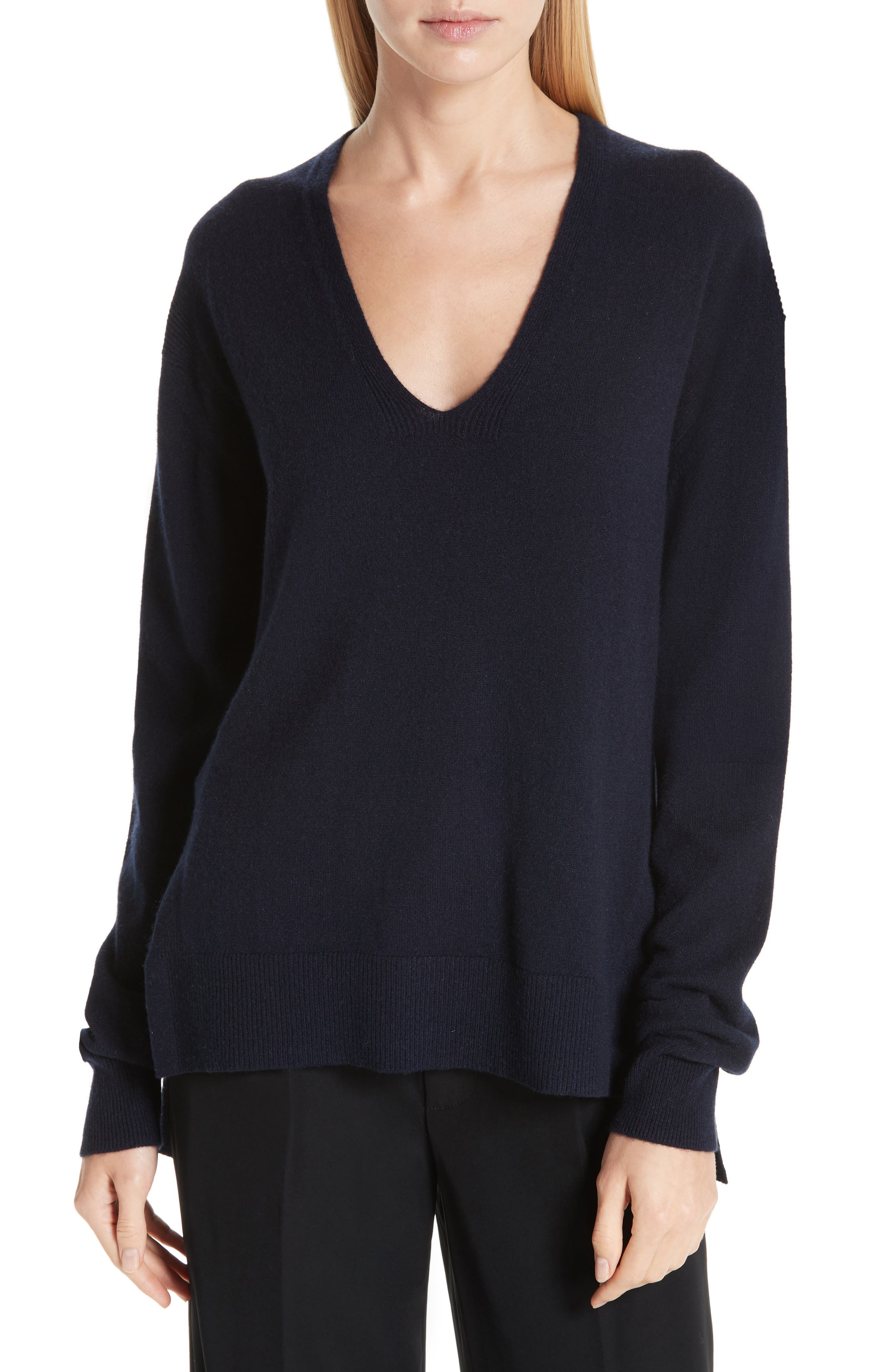 ,                             Wool & Cashmere V-Neck Sweater,                             Main thumbnail 7, color,                             403