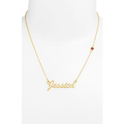Argento Vivo Birthstone & Personalized Nameplate Pendant Necklace (Nordstrom Online Exclusive)
