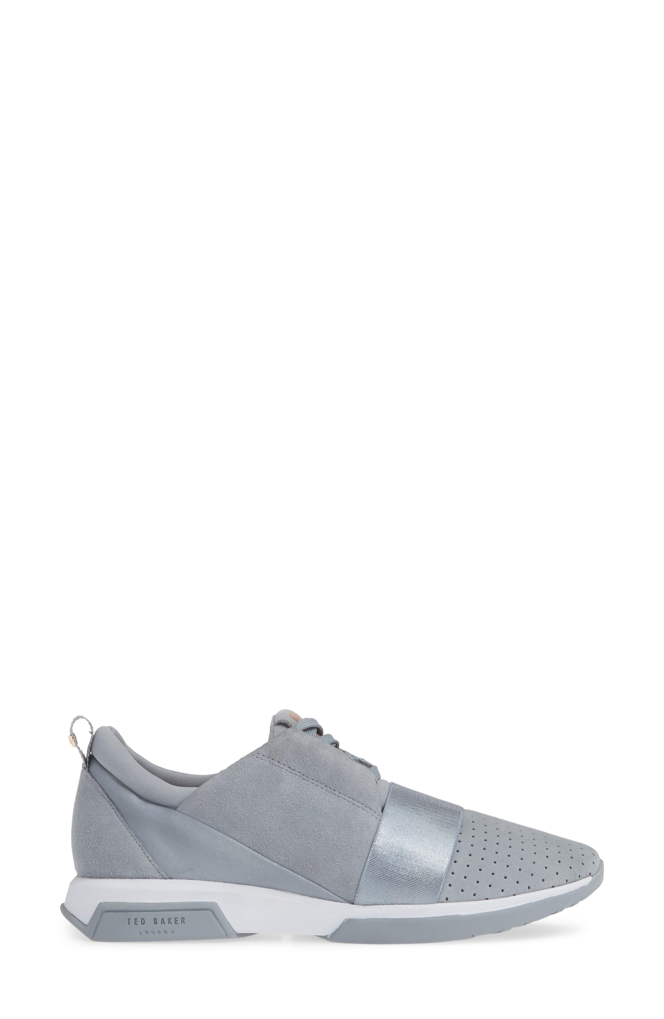 ,                             Cepap Sneaker,                             Alternate thumbnail 3, color,                             SLATE GREY SUEDE/ SATIN