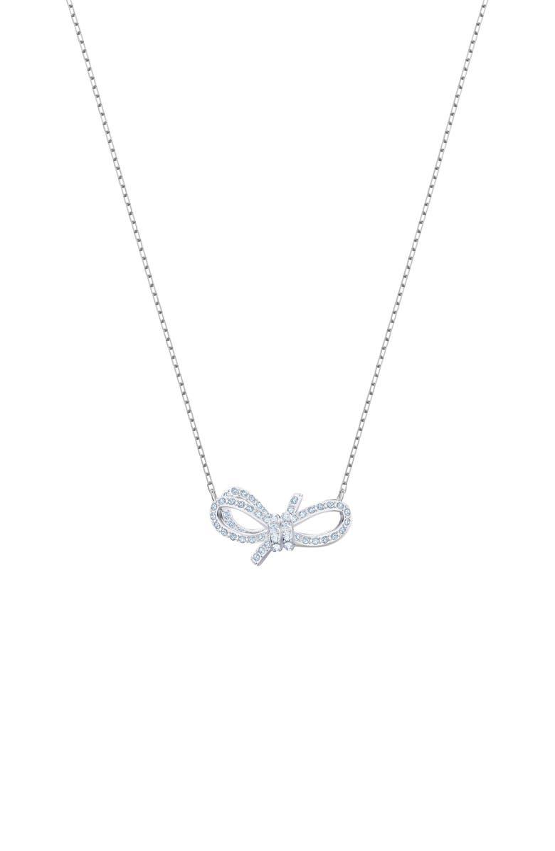SWAROVSKI Lifelong Bow Pendant Necklace, Main, color, 040