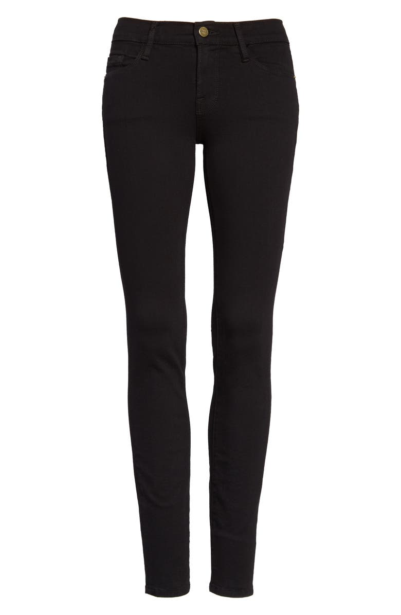 FRAME Le Color Skinny Jeans, Main, color, FILM NOIR