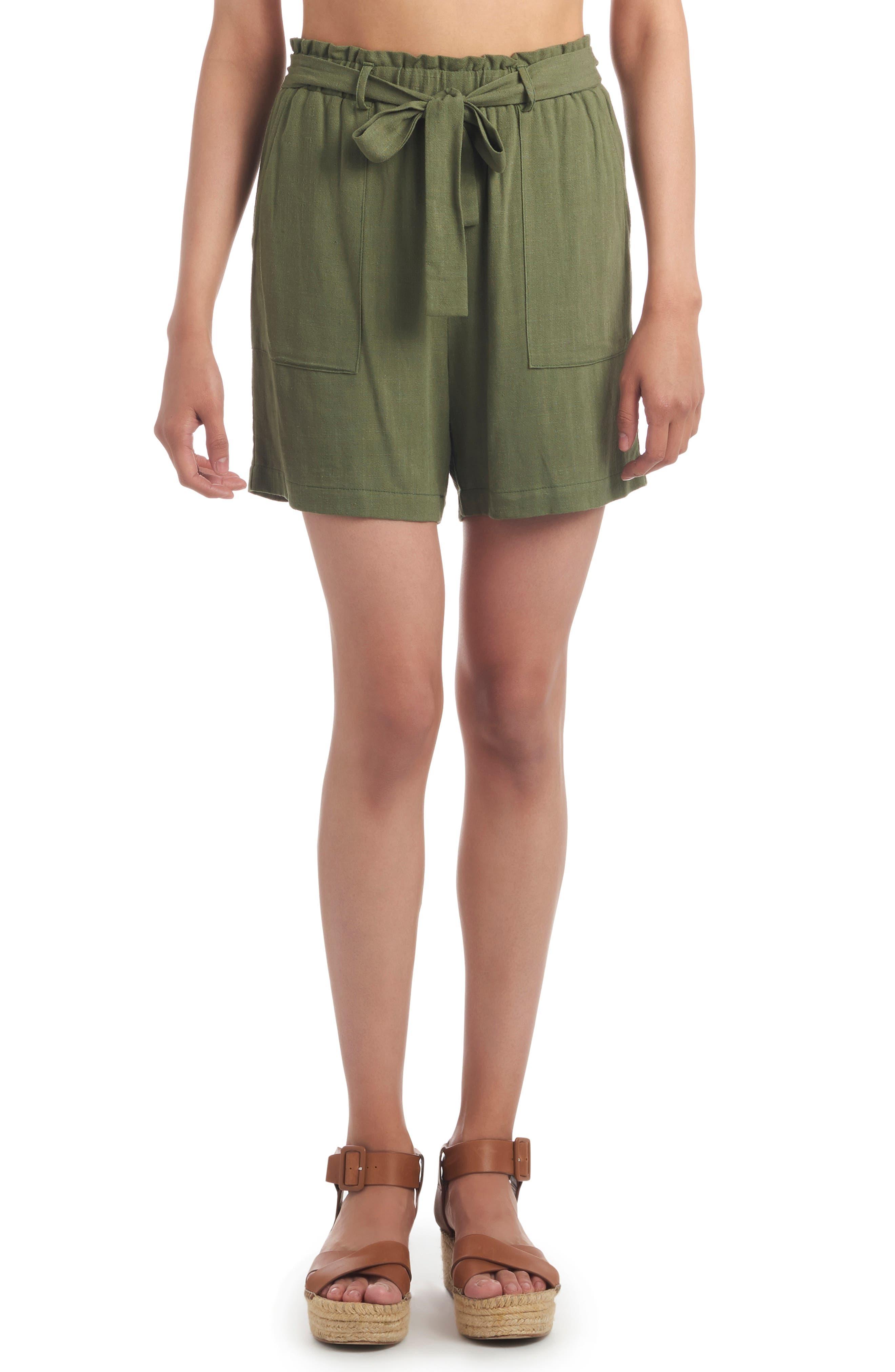 Shelly High Waist Paperbag Shorts