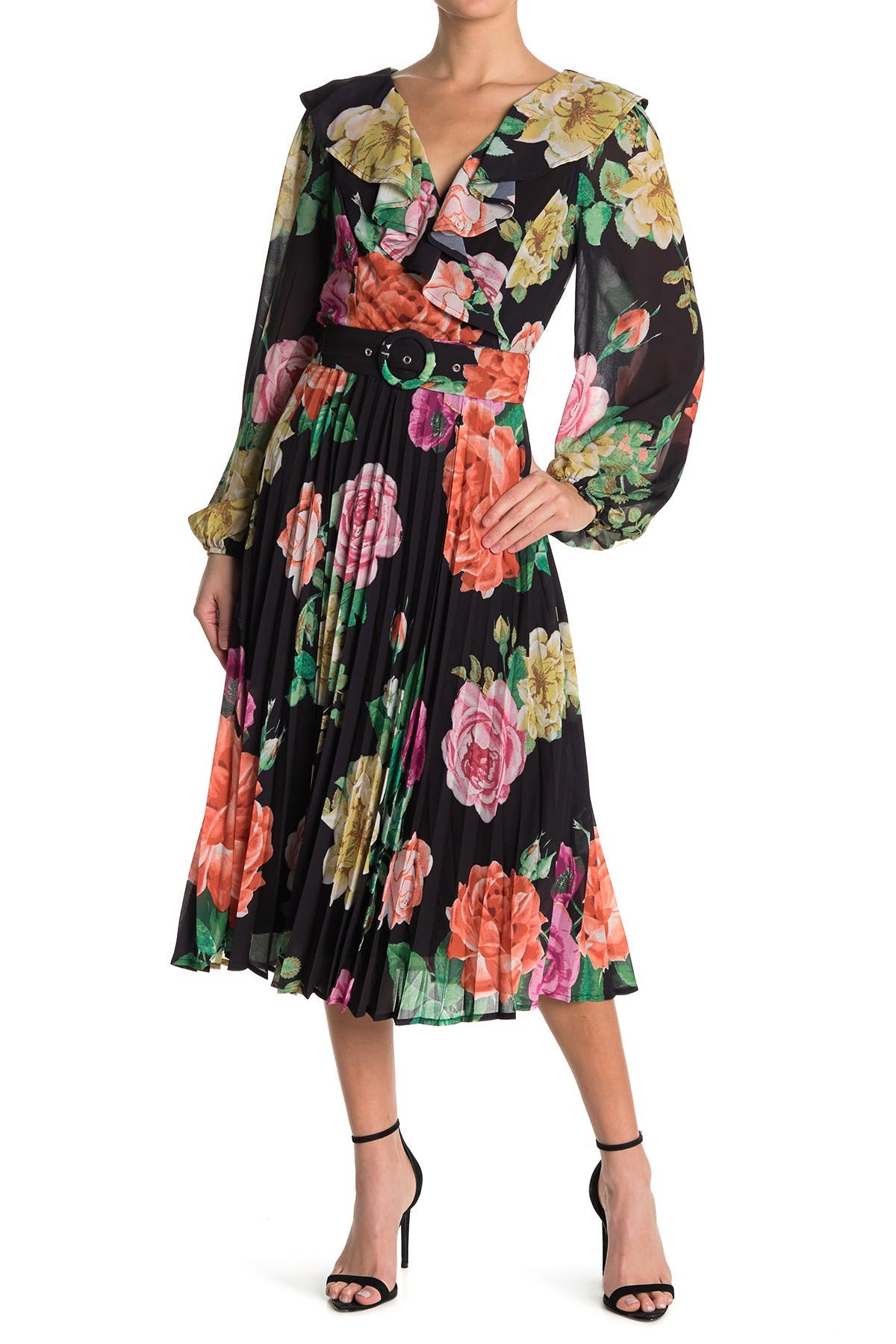 Image of Jealous Tomato Printed Belted Midi Dress