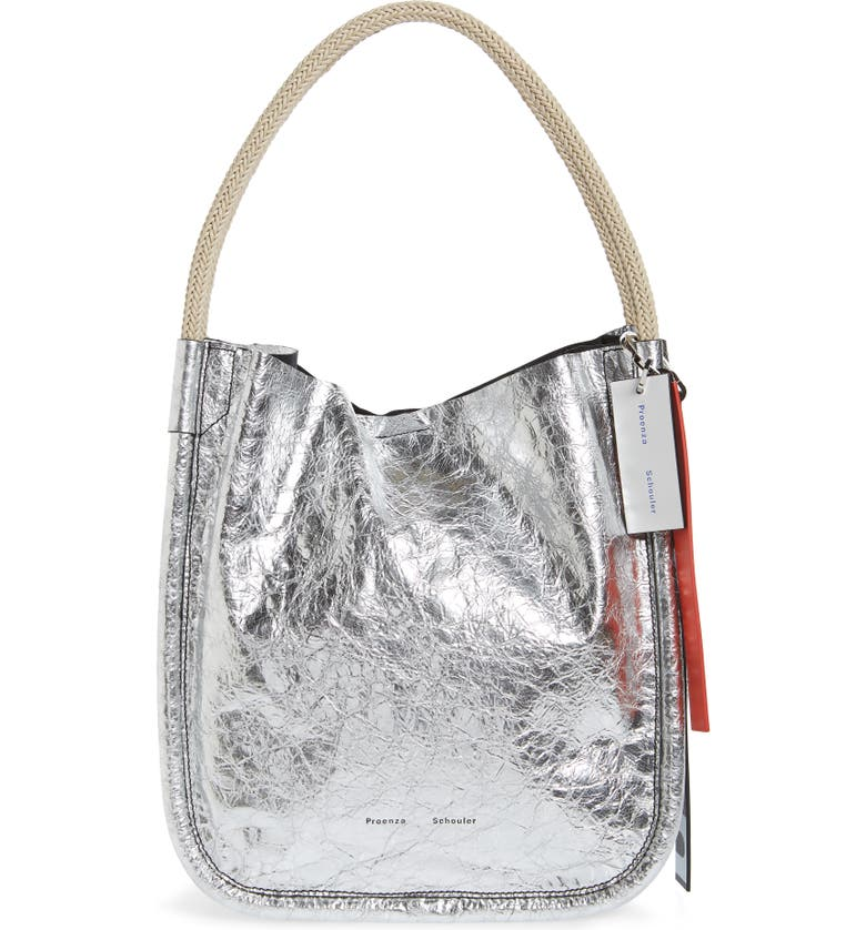 Proenza Schouler Large Metallic Leather Tote