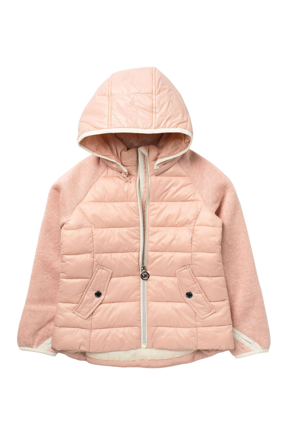 Image of Michael Kors Quilted Hooded Jacket (Little Girls)