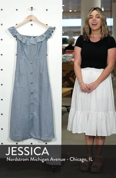Hattie Off the Shoulder Linen Dress, sales video thumbnail