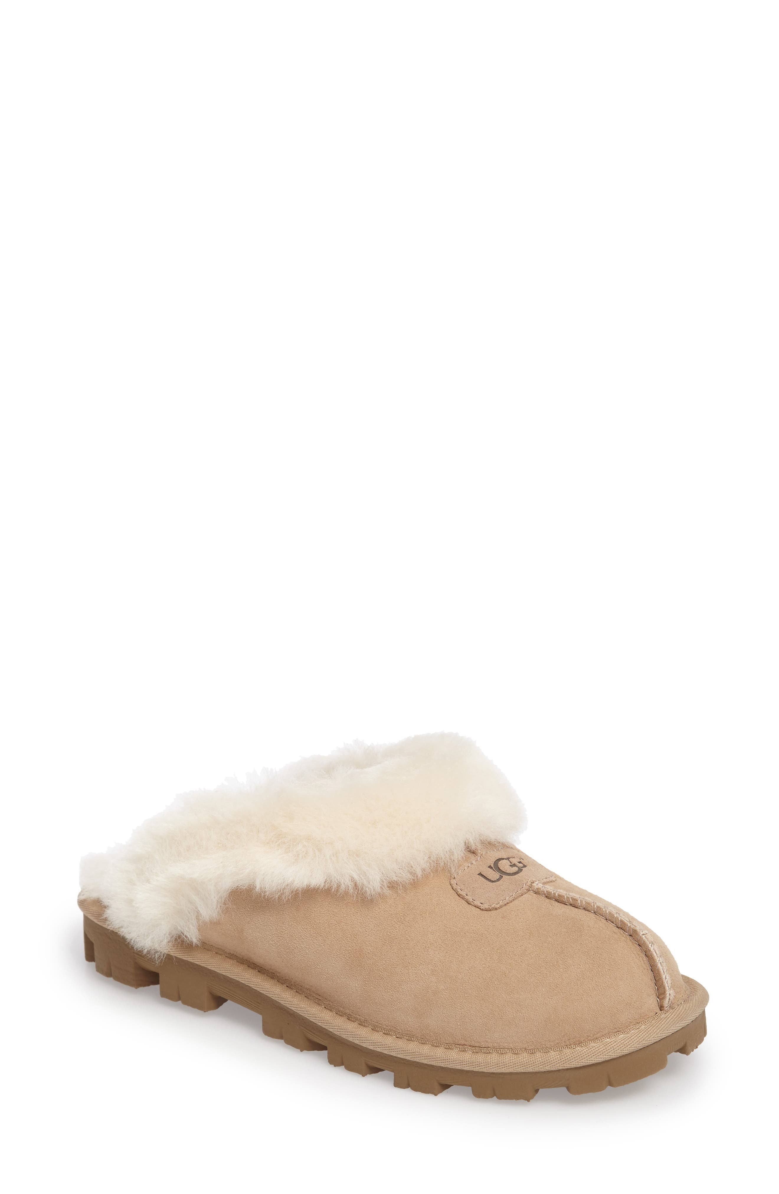 ,                             Genuine Shearling Slipper,                             Main thumbnail 183, color,                             SAN