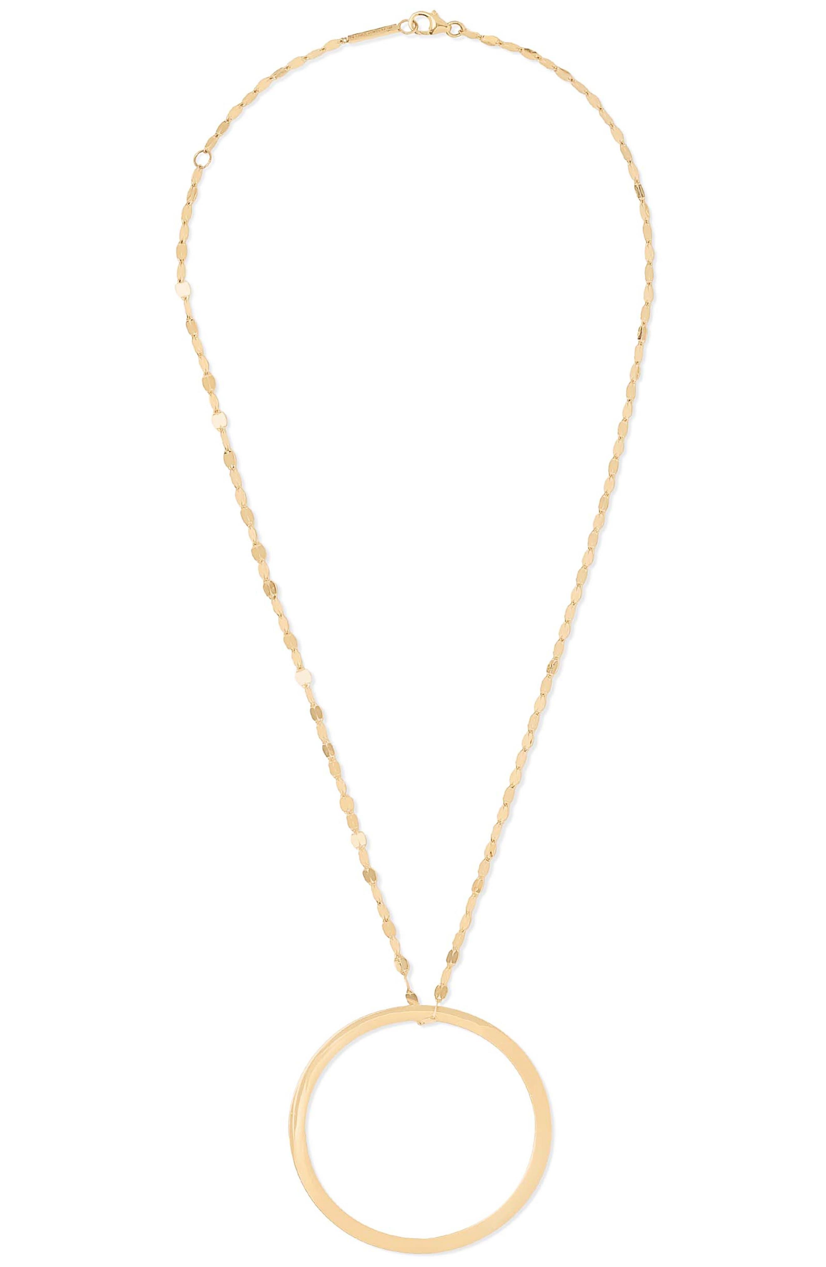 Large Eternity Circle Pendant Necklace