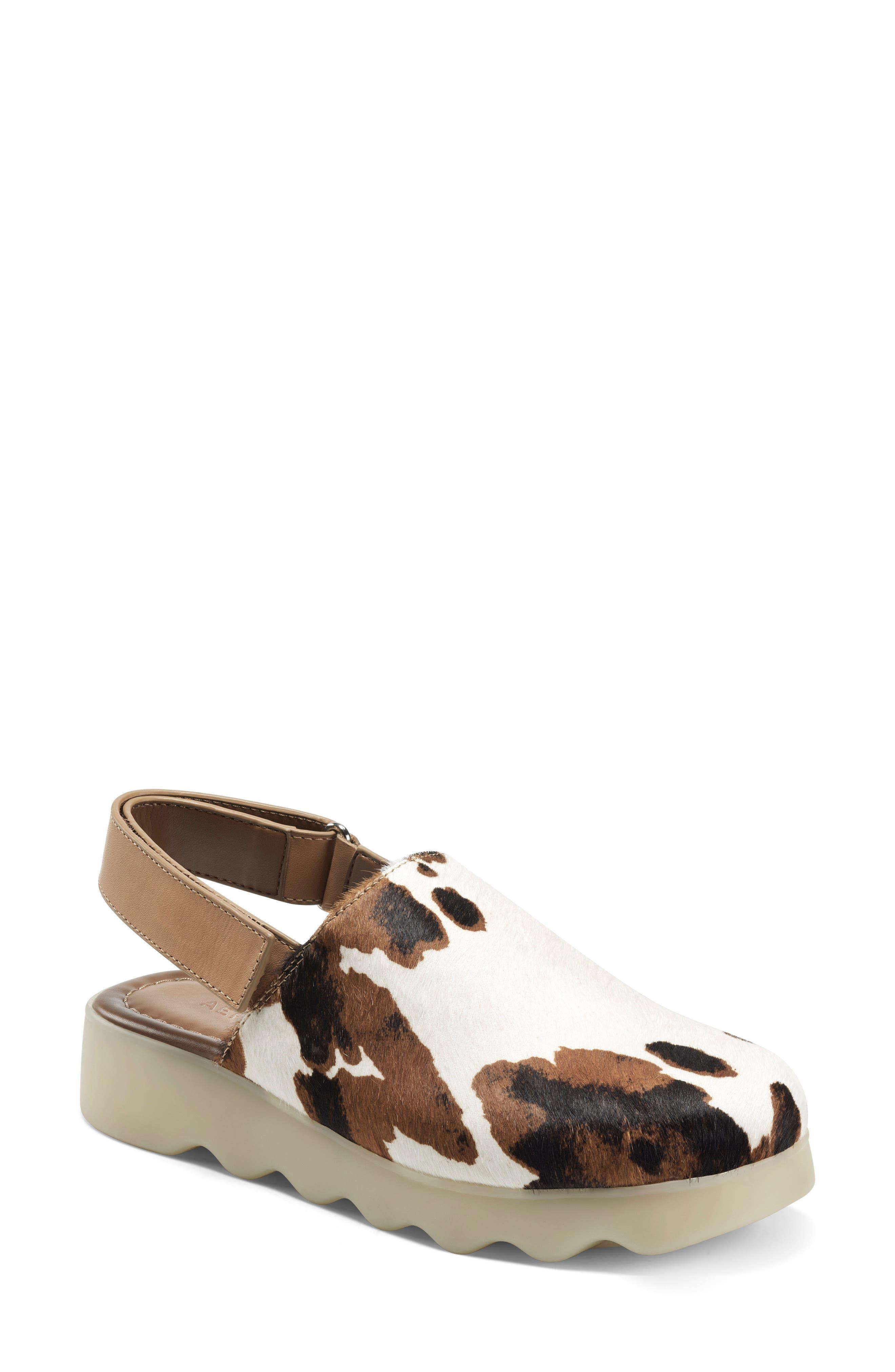 Genuine Calf Hair Slingback Sandal