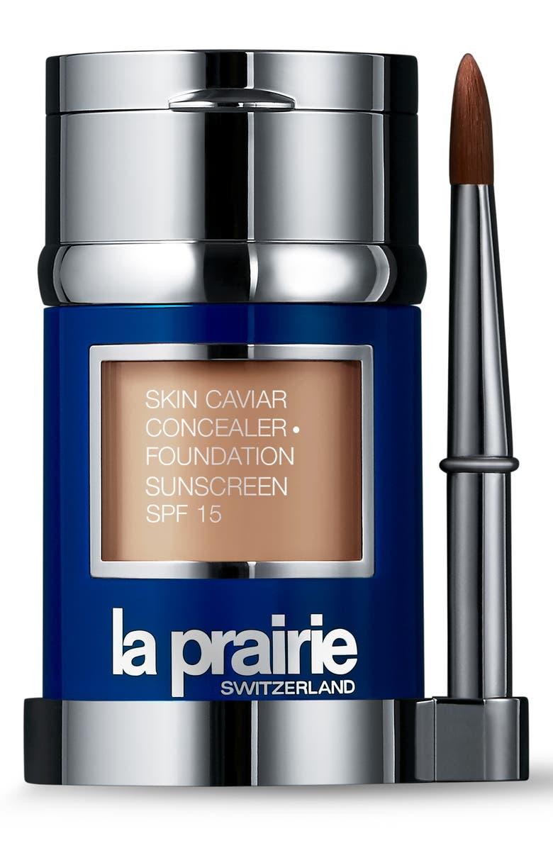 LA PRAIRIE Skin Caviar Concealer + Foundation Sunscreen SPF 15, Main, color, WARM LINEN