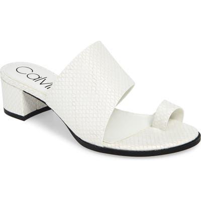 Calvin Klein Dionne Slide Sandal, White