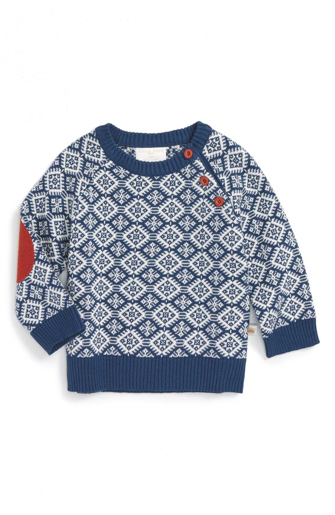 Image of Rosie Pope Geo Pattern Sweater