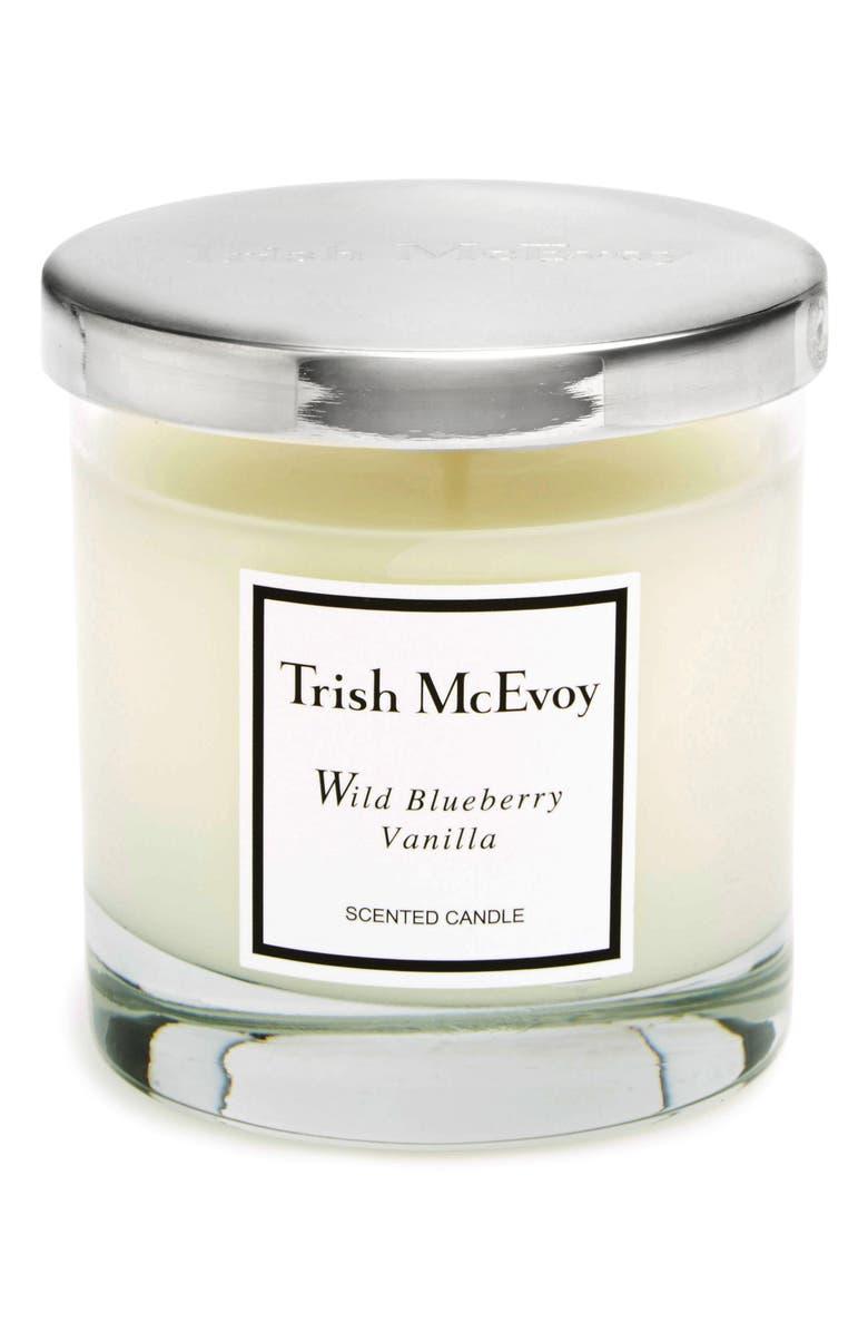 TRISH MCEVOY Wild Blueberry Vanilla Candle, Main, color, NO COLOR