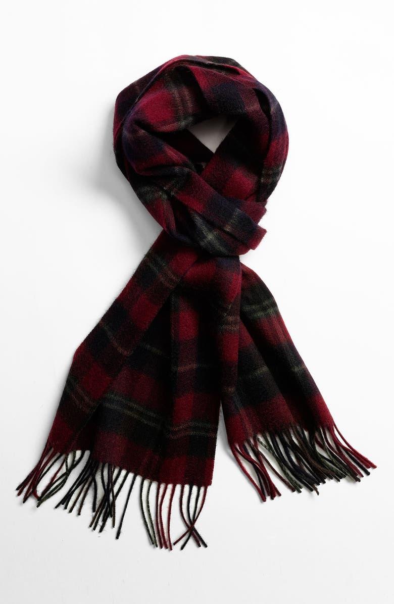 NORDSTROM Wool Scarf, Main, color, BURGUNDY