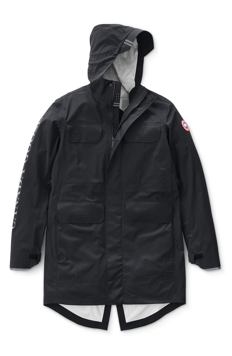 CANADA GOOSE Seawolf Regular Fit Packable Waterproof Jacket, Main, color, BLACK