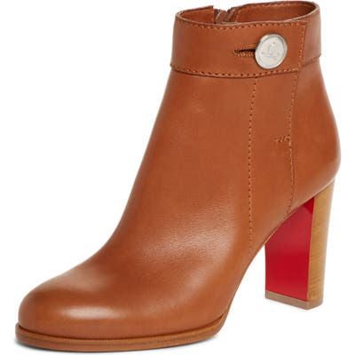 Christian Louboutin Janis Button Bootie, Brown