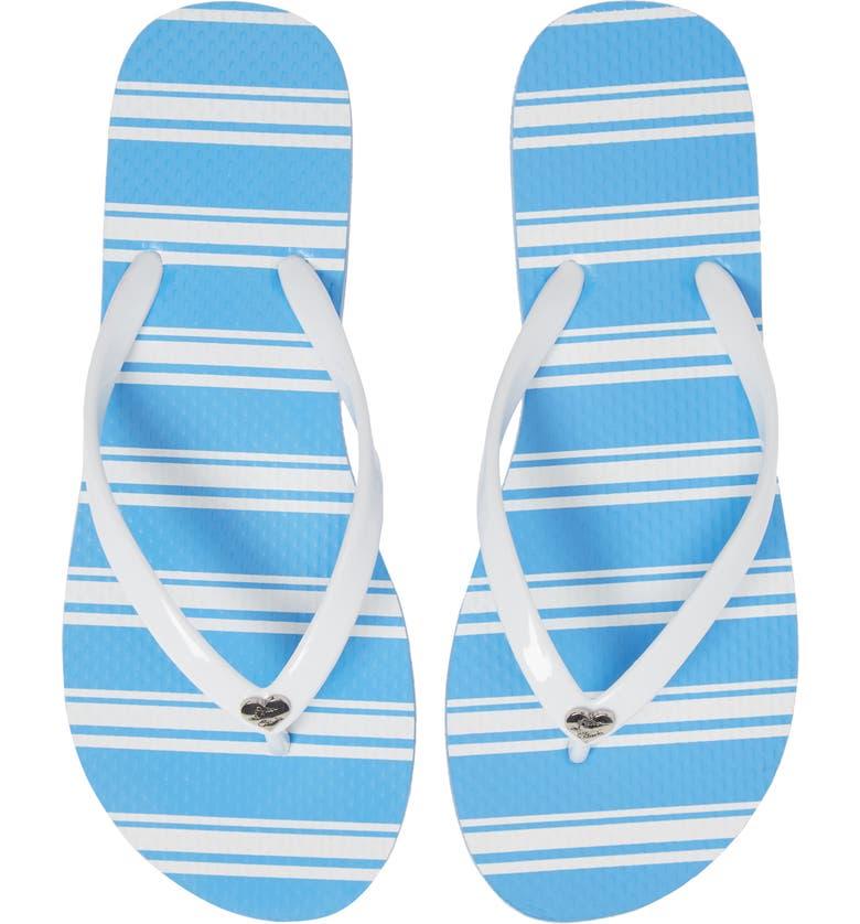 ALICE + OLIVIA Eva Flip-Flop, Main, color, WHITE