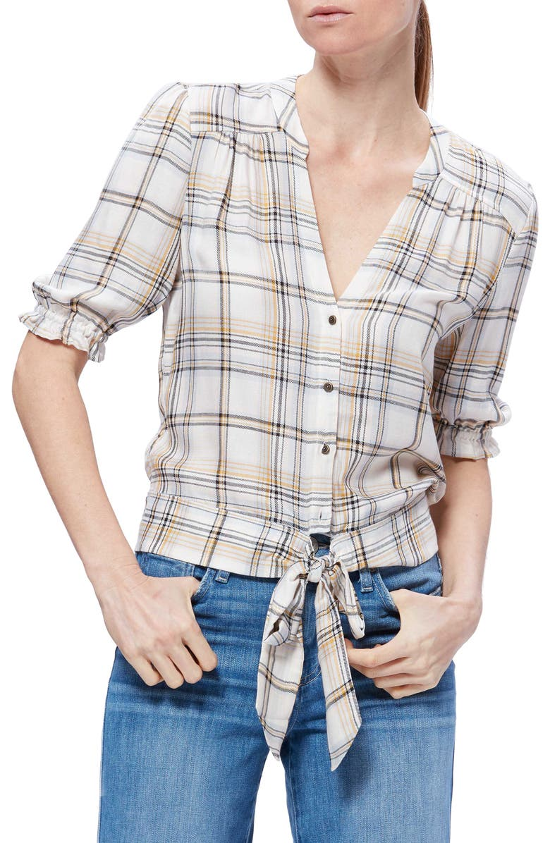 PAIGE Annecy Plaid Top