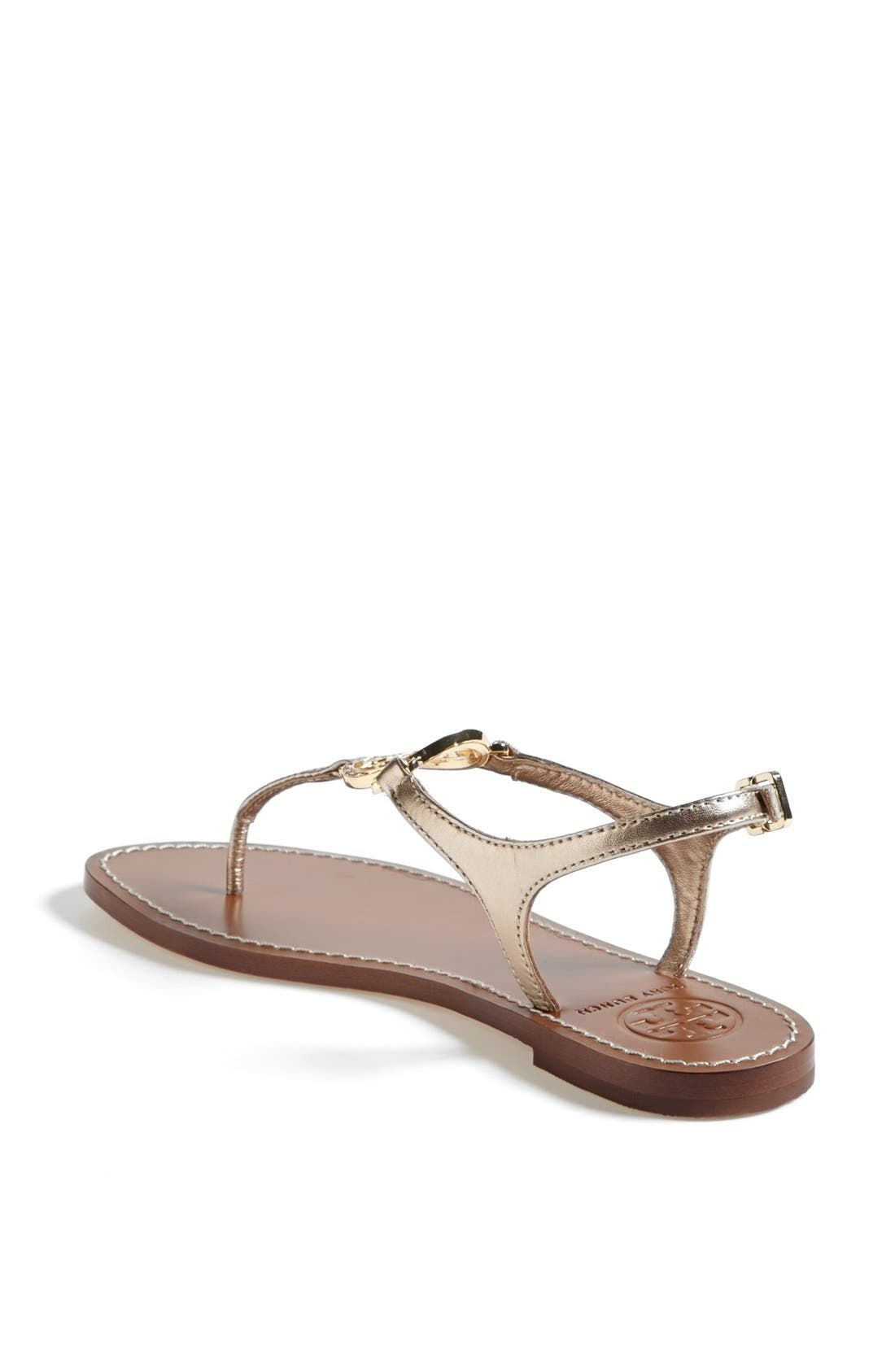 ,                             'Violet' Metallic Leather Thong Sandal,                             Alternate thumbnail 9, color,                             710