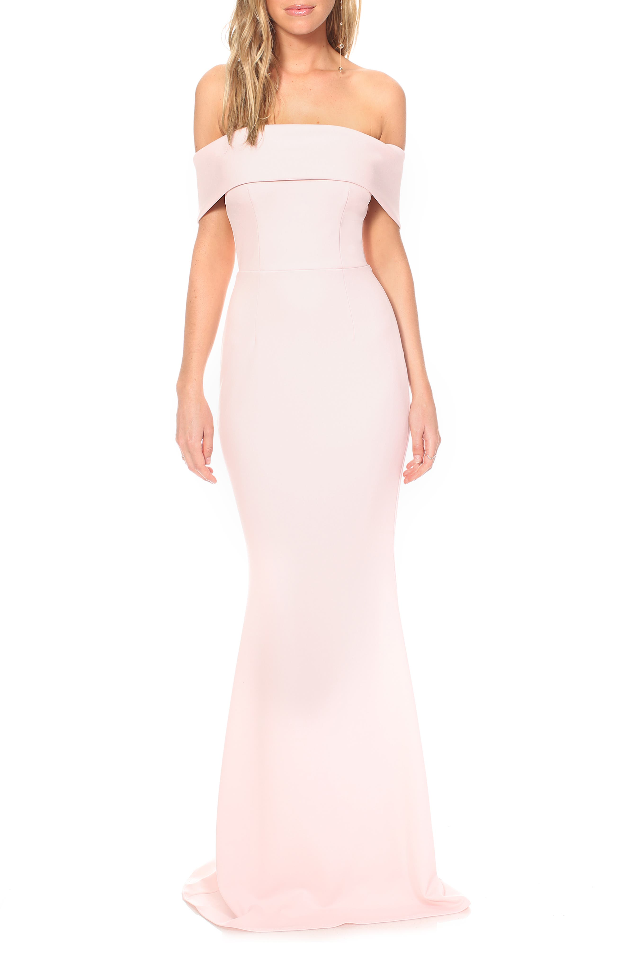 Katie May Legacy Crepe Body-Con Gown, Pink