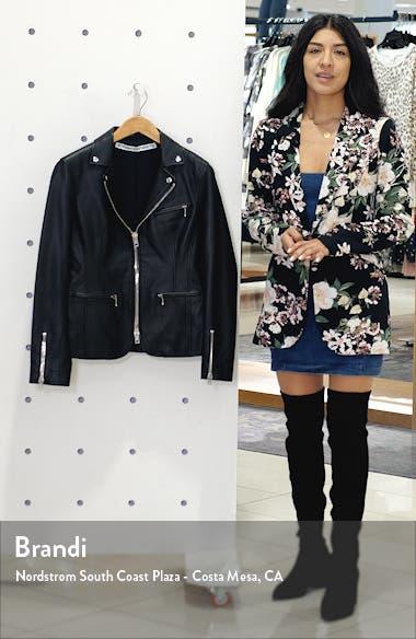 Ball Chain Leather Moto Jacket, sales video thumbnail
