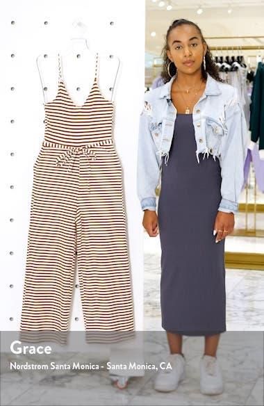 Ruth Stripe Crop Jumpsuit, sales video thumbnail