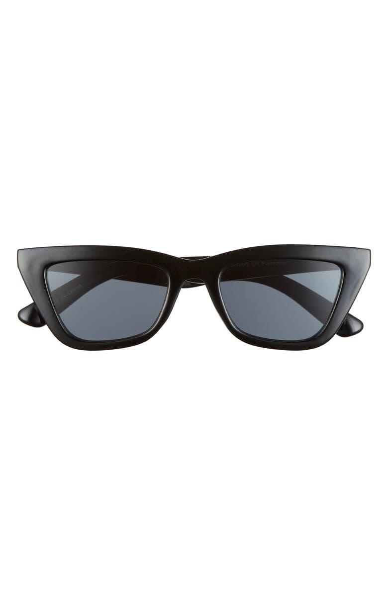 BP. 50mm Cat Eye Sunglasses, Main, color, BLACK